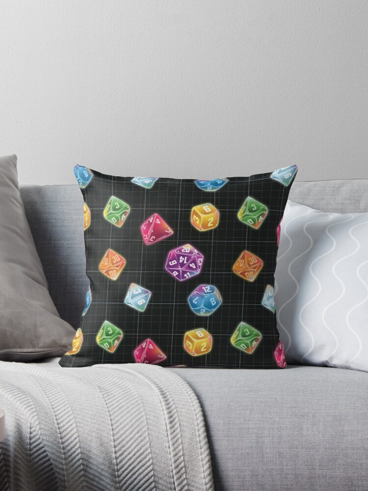 Dungeon Master Dice Throw Pillows