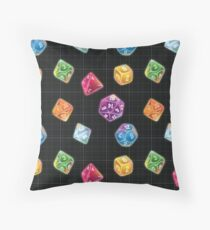 Dungeon Master Dice Throw Pillow