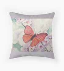 Wistful butterfly Throw Pillow