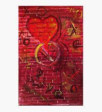 Abstract Graffiti Valentine Photographic Print