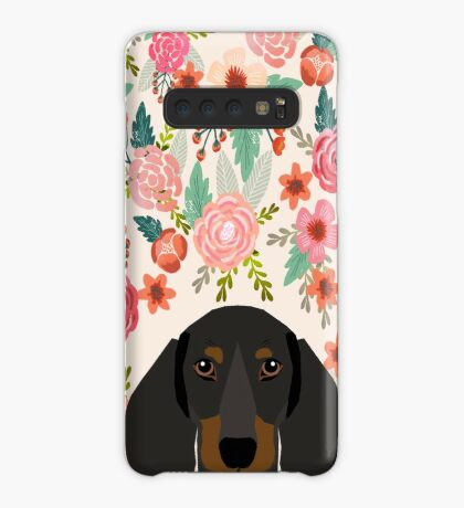 Dachshund floral dog head cute doxie must have pure breed weener dog gifts Case/Skin for Samsung Galaxy