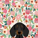 Dachshund floral dog head cute doxie must have pure breed weener dog gifts by PetFriendly