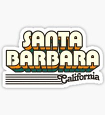 Santa Barbara, California | Retro Stripes Sticker