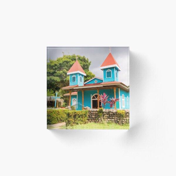 Blue Church Acrylic Block