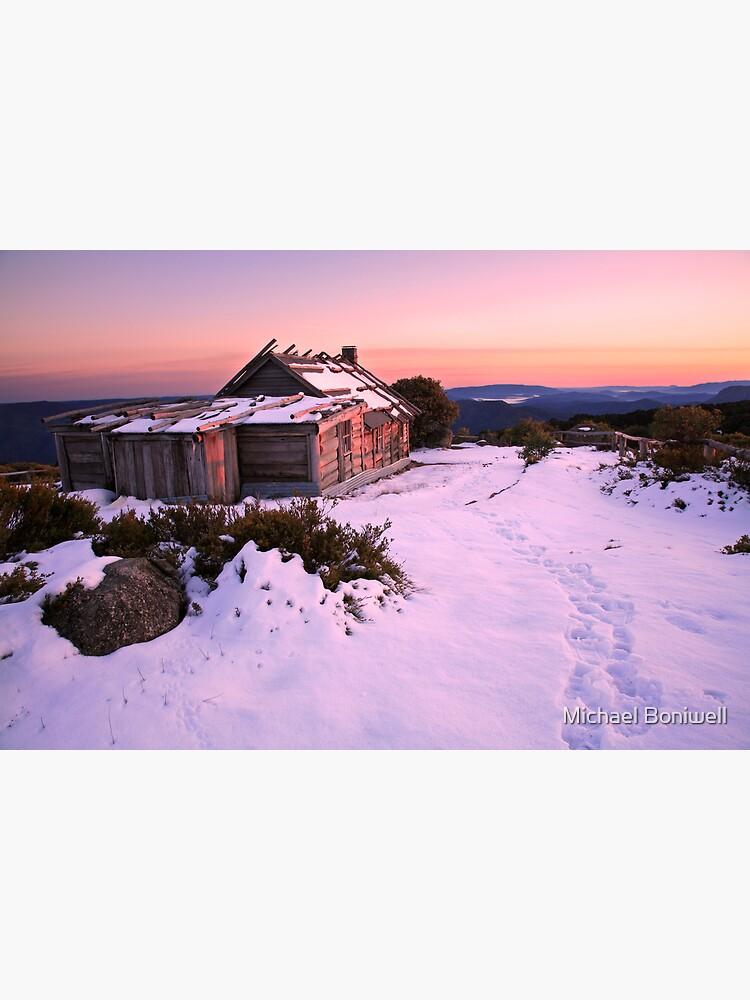 Winter Sunrise over Craig's Hut, Mt Stirling, Australia by Chockstone