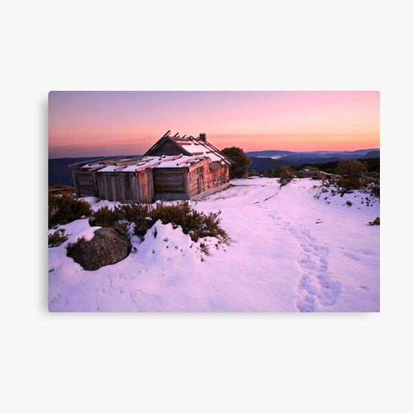 Winter Sunrise over Craig's Hut, Mt Stirling, Australia Canvas Print