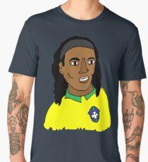 Ronaldinho Brazil Football Ball Life Camiseta premium para hombre
