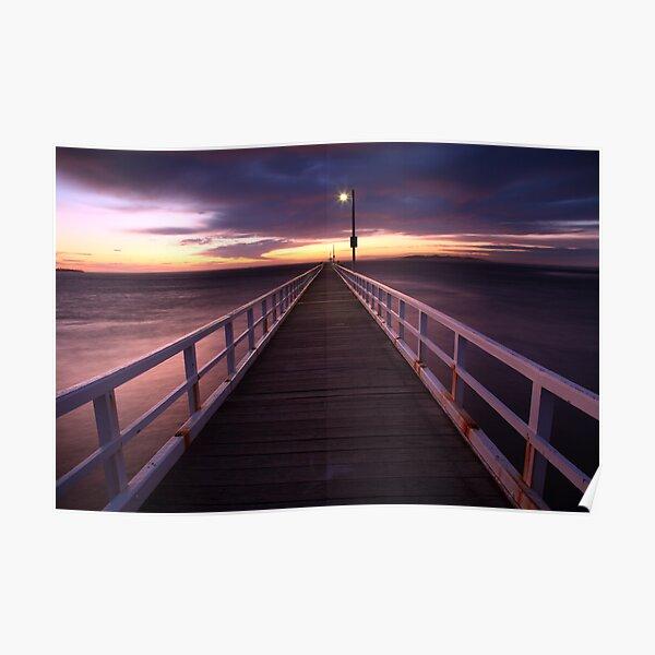 Pre-Dawn Greets Point Lonsdale Pier, Australia Poster