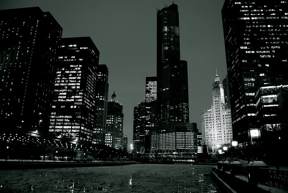 Chicago River Walk by Patrick  Byrne