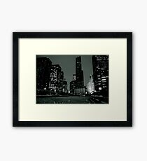 Chicago River Walk Framed Print