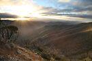 Last of the light, Mt Hotham, Australia by Michael Boniwell