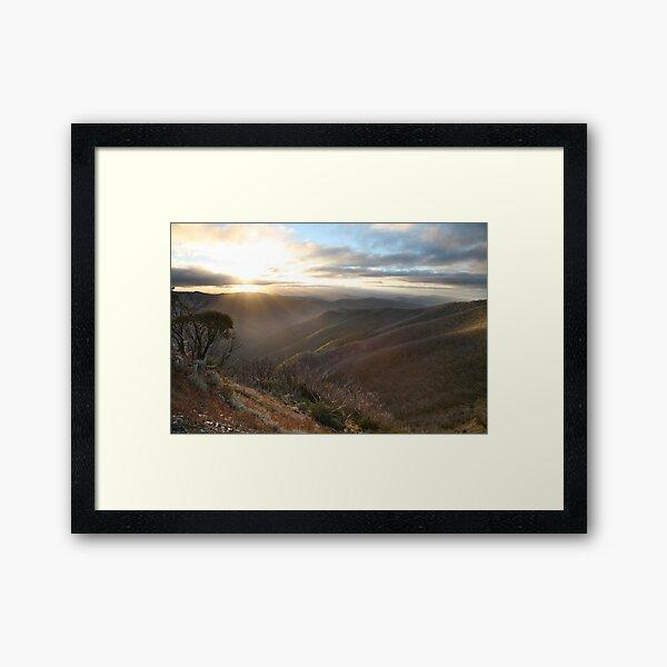 Last of the light, Mt Hotham, Australia Framed Art Print