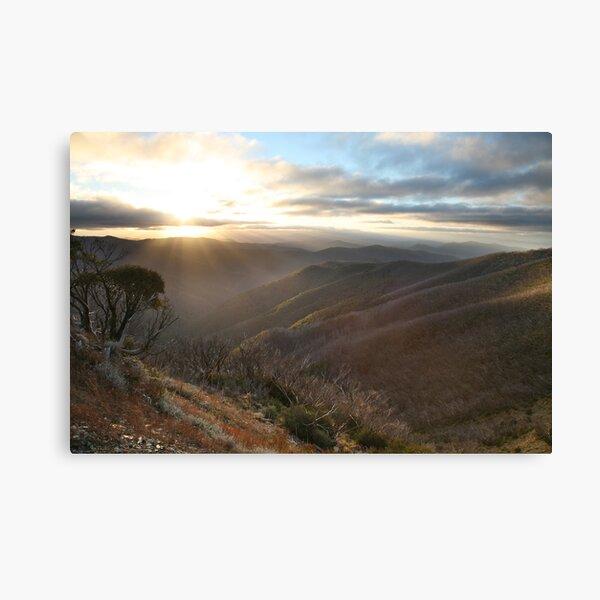 Last of the light, Mt Hotham, Australia Canvas Print