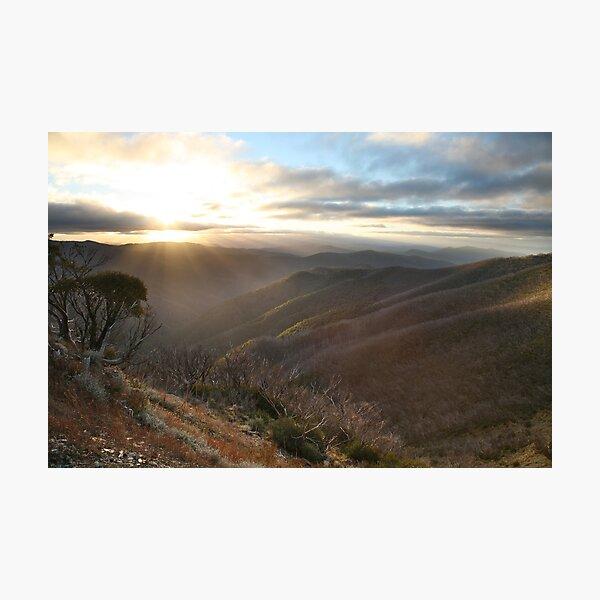Last of the light, Mt Hotham, Australia Photographic Print