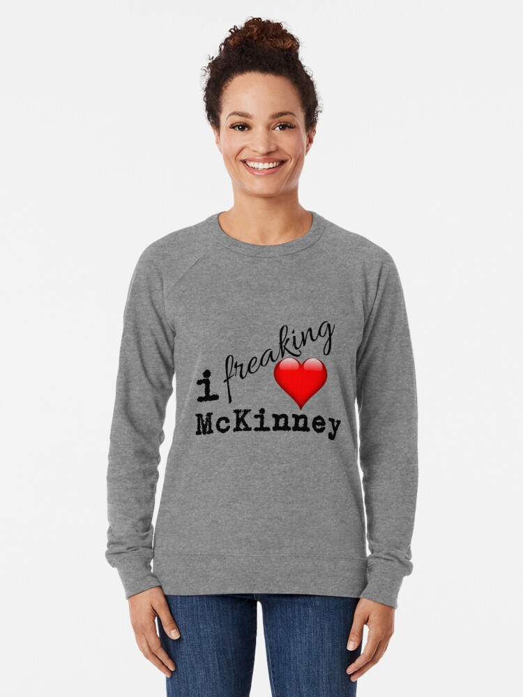 Alternate view of I Love McKinney Texas Lightweight Sweatshirt