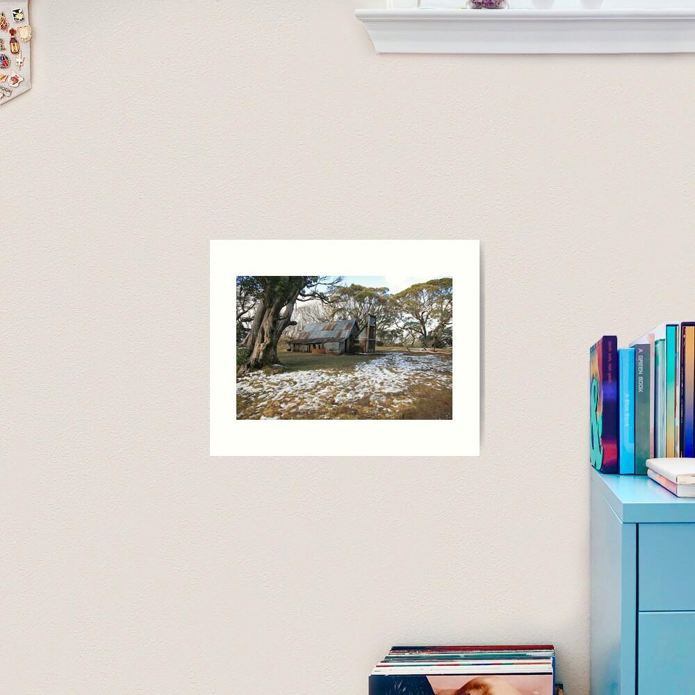 Wallace Hut, Falls Creek, Australia Art Print
