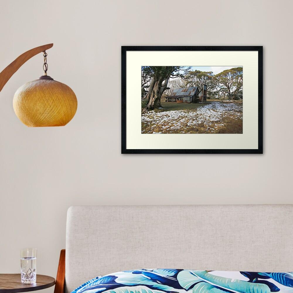 Wallace Hut, Falls Creek, Australia Framed Art Print