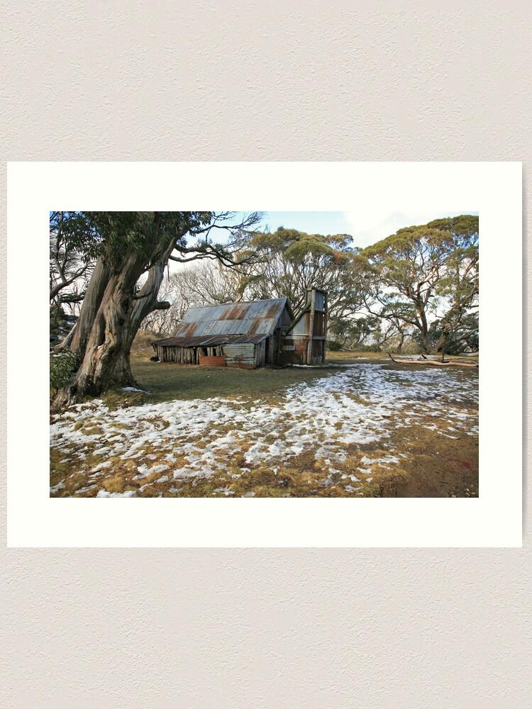 Alternate view of Wallace Hut, Falls Creek, Australia Art Print