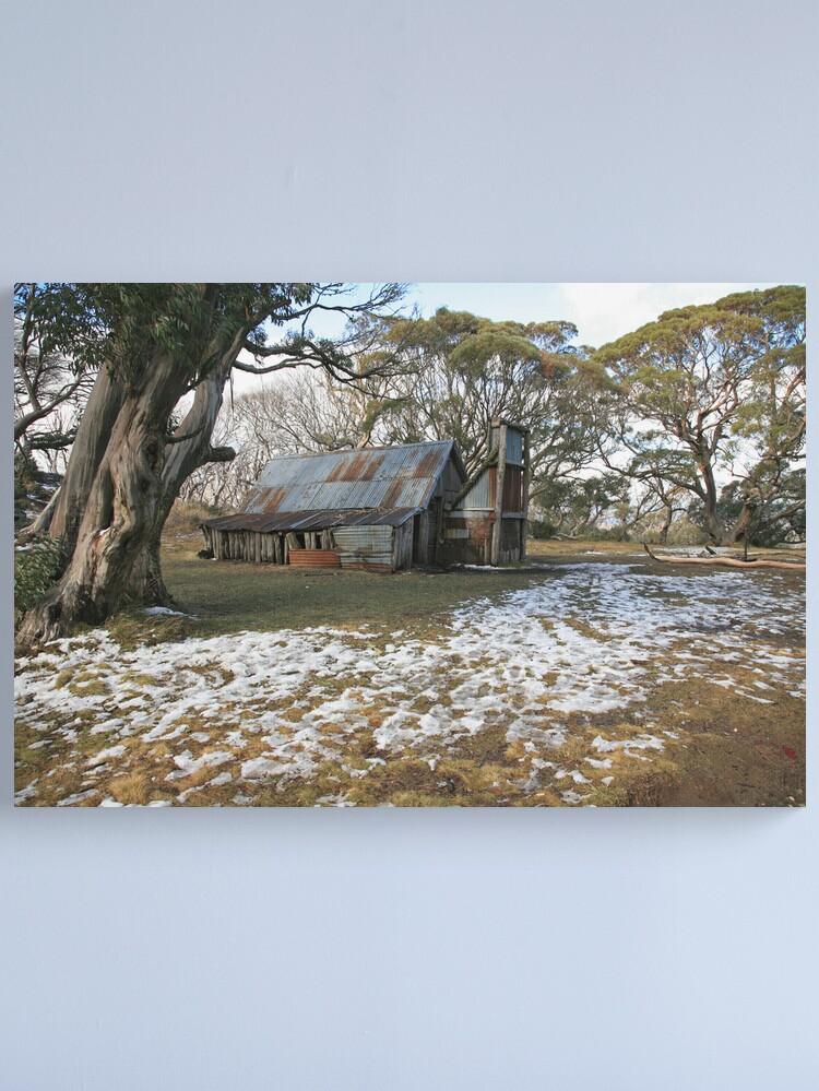 Alternate view of Wallace Hut, Falls Creek, Australia Canvas Print