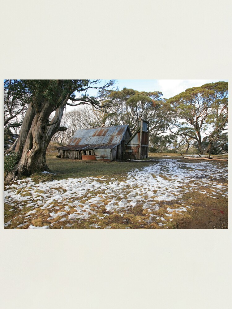 Alternate view of Wallace Hut, Falls Creek, Australia Photographic Print