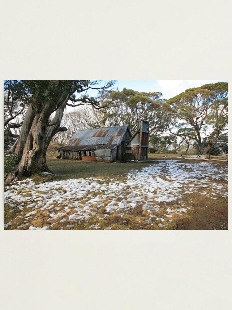 Alternate view of Wallace Hut, Falls Creek, Australia Photographic Print