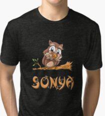 Sonya Owl Tri-blend T-Shirt