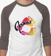 Jesus Walks whit Us! Men's Baseball ¾ T-Shirt