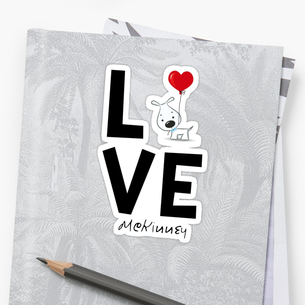 McKinney Texas Dog Lover Sticker