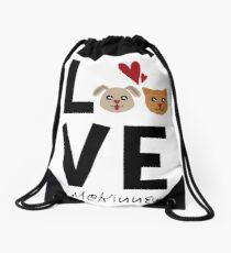 McKinney Texas Dog Lover Drawstring Bag