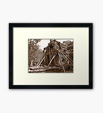 Holding on to the past Framed Print