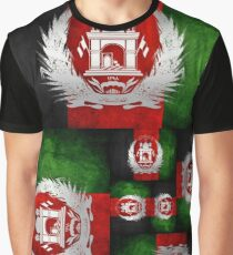 Afghan Afghanistan Flag T Shirt and Hoodie Graphic T-Shirt