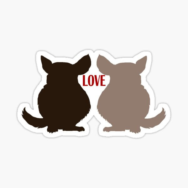 Chinchilla Love Sticker