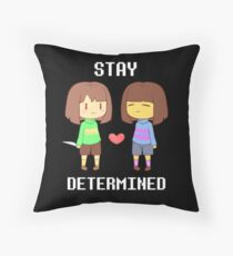 Chara & Frisk Throw Pillow