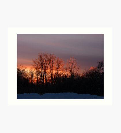 Where Sunset Meets Ice Art Print