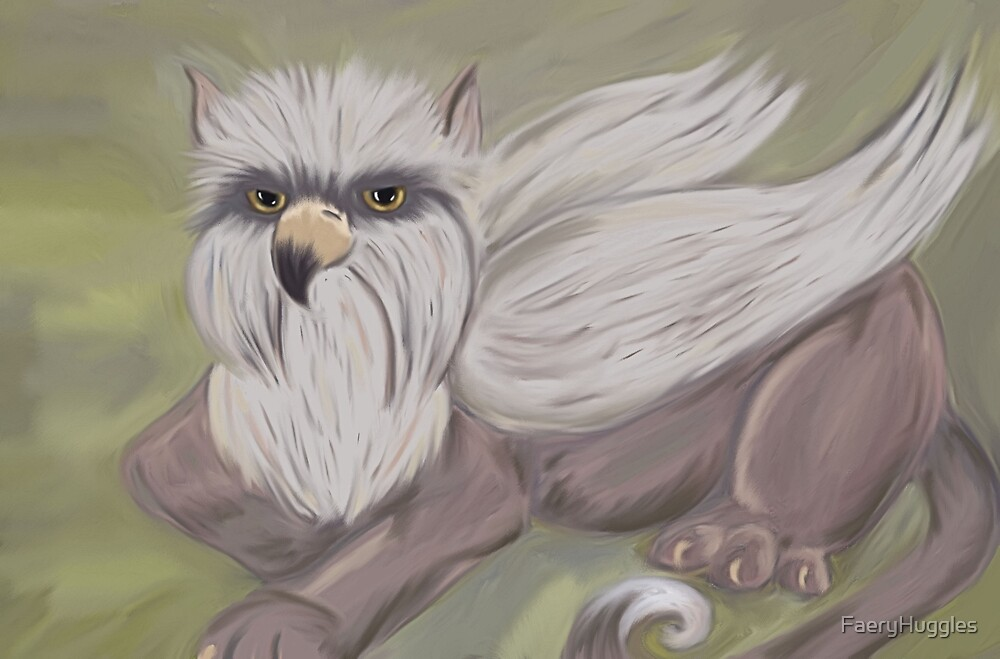 baby Gryphon by FaeryHuggles