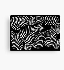 B&W Inverted Leaves Canvas Print