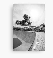 RJ Barbaro Black & White Skateboarding Canvas Print