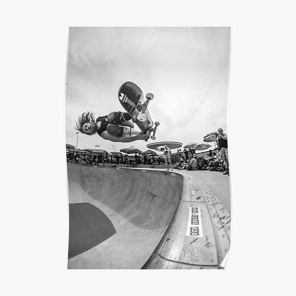 RJ Barbaro Skateboard noir et blanc Poster