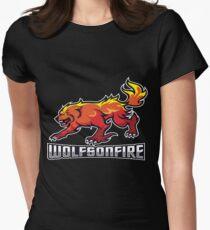 WolfsOnFire Official Logo (16:9) Women's Fitted T-Shirt