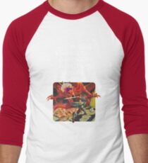 Dungeons & Diners & Dragons & Drive-Ins & Dives: Slightly Larger Image Men's Baseball ¾ T-Shirt