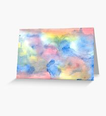 Rainbow Clouds ~ Abstract Art Greeting Card
