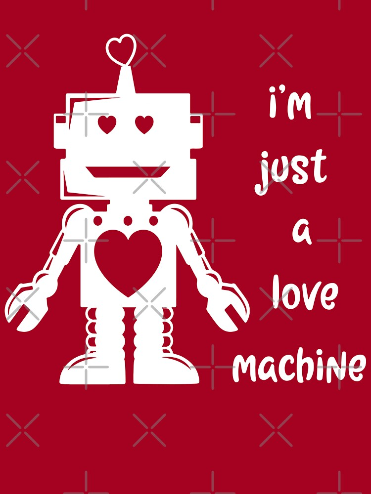 Valentines Day Shirt For Kids Just A Love Machine Robot Baby One Piece By Vintageinspired Redbubble