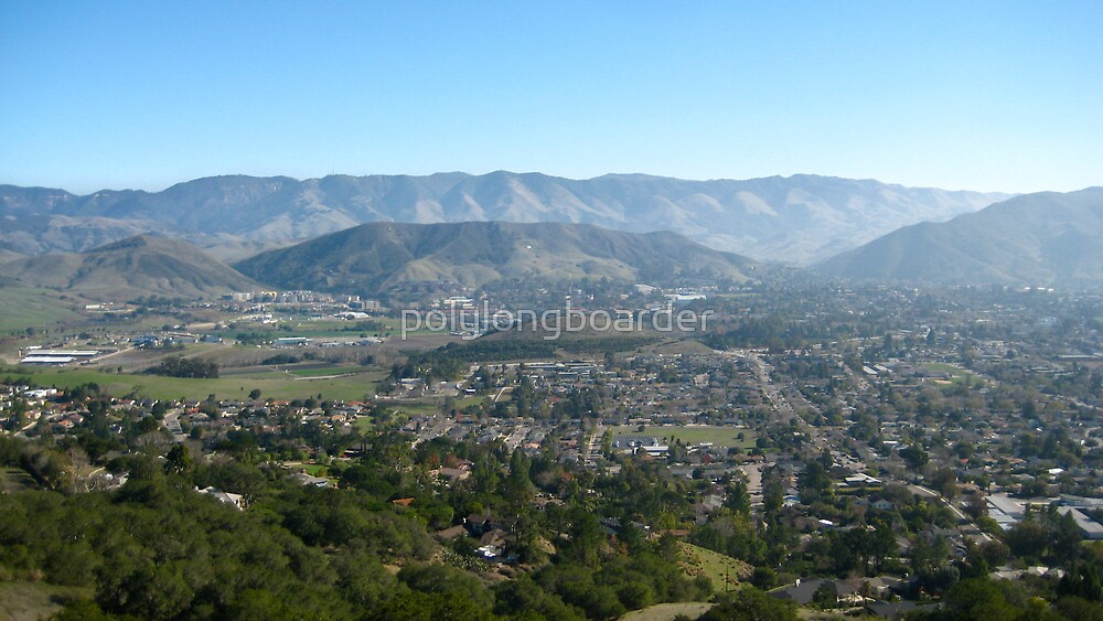 San Luis Obispo from Above by polylongboarder
