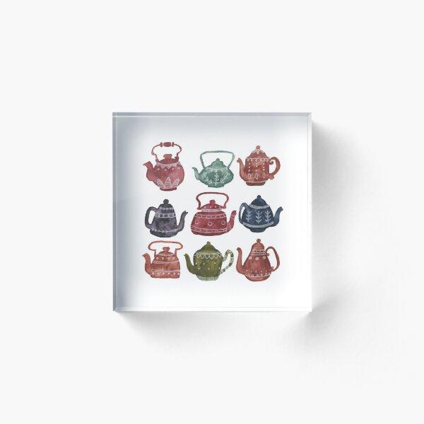 Teapots Acrylic Block