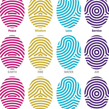 Pattern of Fingerprints on White Background by ElaineCallahan