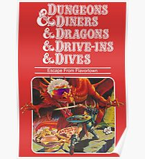 Dungeons & Diners & Dragons & Drive-Ins & Dives: Slightly Larger Image Poster