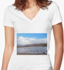 Glenveagh National Park Donegal Ireland Women's Fitted V-Neck T-Shirt