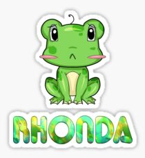 Rhonda Frog Sticker