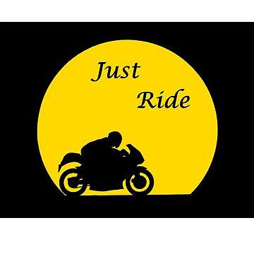 Just Ride Biker by DreamLizard