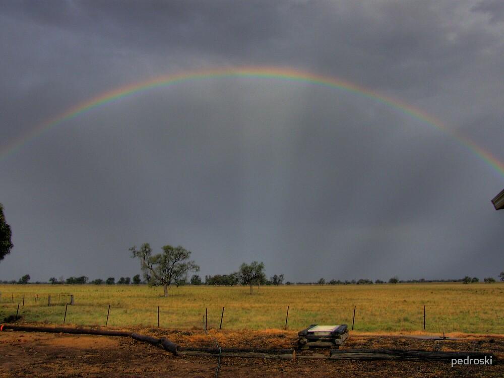 Warrumbungles Rainbow by pedroski